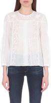 Vanessa Bruno Fantassin embroidered linen and cotton-blend blouse