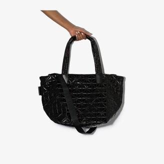 VeeCollective black Vee medium tote bag
