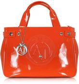 Armani Jeans Patent Eco Leather Shopping Bag