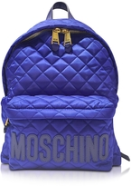 Moschino Electric Blue Nylon Backpack
