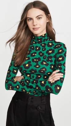 La DoubleJ La Double J Floral Leopard Turtleneck