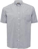 M&Co Farah short sleeve stripe shirt