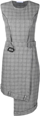 Delada Belted Check Dress