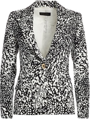 Escada Bikenati Abstract Leopard Print Jacket