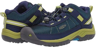 KEEN Kids Targhee Sport (Little Kid/Big Kid) (Blue Depths/Chartreuse) Boy's Shoes