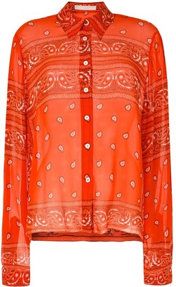 Dion Lee Bandana Sheer Shirt