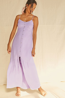 Forever 21 Buttoned High-Slit Maxi Dress
