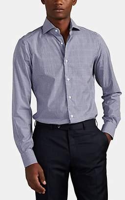 Isaia Men's Checked Cotton Poplin Shirt - Gray Pat.