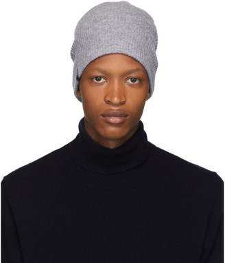 Mackage Grey Wool and Cashmere Tazio-R Beanie