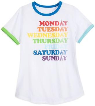 Disney Fantasyland Castle Rainbow Ringer T-Shirt for Women