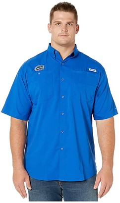 Columbia College Big Tall Florida Gators Collegiate Tamiamitm II Short Sleeve Shirt (Azul) Men's Short Sleeve Button Up