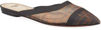 Fendi Colibri FF Mesh Flat Mules