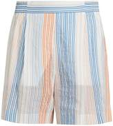 Stella McCartney Striped wide-leg shorts