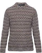 Pringle Brown Marble Tuck Stitch Cashmere Sweater
