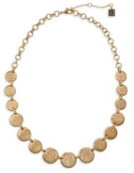 Laundry by Shelli Segal Montebello Goldtone Hammered Disc Collar Necklace