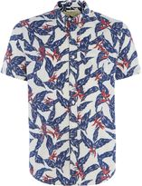 Denim And Supply Ralph Lauren Regular Fit Palm Print Short Sleeve Shirt