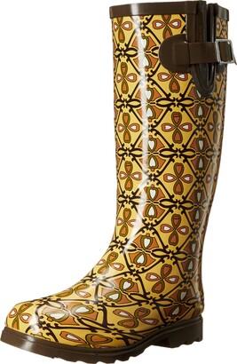 NOMAD Women's Puddles Rain Boot Heart Trellis 8 M US
