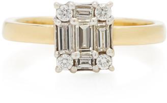 Mindi Mond Clarity Cube Yellow-Gold and Diamond Ring