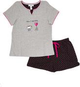 Rene Rofe Gray 'How I Tell Time' Tee & Shorts Pajama Set - Plus Too