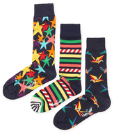 Happy Socks Starry, Stripes & Origami Socks (3 PK)