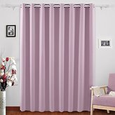 Deconovo Curtains Grommet Top Thermal Insulated Wide Width Curtains for Kids Room 100 x 84 Inch Lavender One Panel