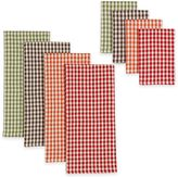Harvest Check Heavyweight Kitchen Towels and Dish Cloths (Set of 8)