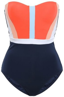 Jets Color-block Bandeau Swimsuit