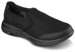 Skechers Men's GOwalk 5 - Delco Extra Wide Width Slip-on Walking Sneakers from Finish Line