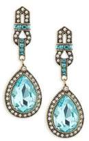 Heidi Daus Long Teardrop Crystal Earrings