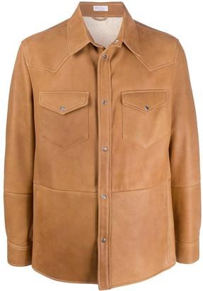 Brunello Cucinelli Sheepskin Shirt Jacket