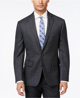 Ryan Seacrest Distinction Charcoal Plaid with Blue Deco Slim-Fit Sport Coat, Only at Macy's