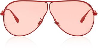 Christian Dior Camp Aviator-Style Metal Sunglasses