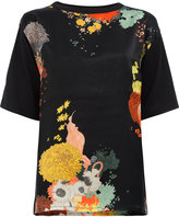 Dries Van Noten printed short sleeve T-shirt - women - Silk/Cotton - S