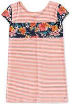 Roxy Striped Cotton Shift Dress, Big Girls