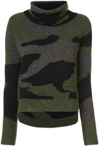 Veronica Beard camouflage pattern jumper
