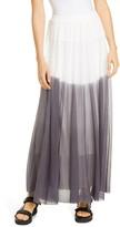 Fuzzi Degrade Mesh Maxi Skirt