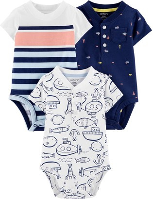 Carter's Baby Neutral 3-Pack Fish Rompers