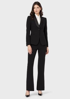 Giorgio Armani Crepe Tuxedo Pure Silk Jacket