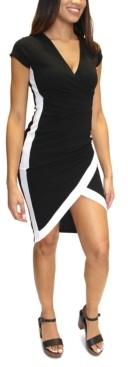 Almost Famous Juniors' Framed Faux-Wrap Midi Dress
