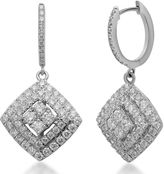 JCPenney FINE JEWELRY LIMITED QUANTITIES 2 CT. T.W. Diamond 14K White Gold Framed Drop Earrings
