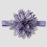 Cat & Jack Girls' Shiny Flower Headwrap Cat & Jack - Purple One Size