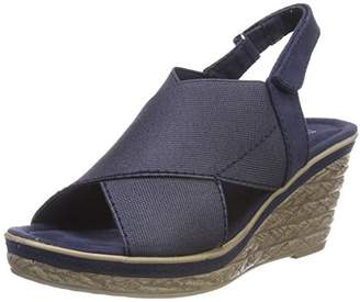 Marco Tozzi Women's 28351 Sling Back Sandals, Blue (Navy Comb 890)