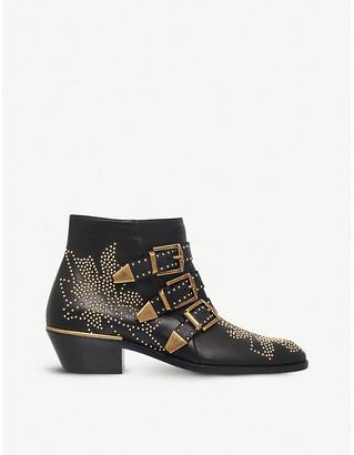Chloé Susanna leather heeled ankle boots