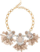 Elizabeth Cole Tuva Statement Necklace Blush/Nude 1SIZE