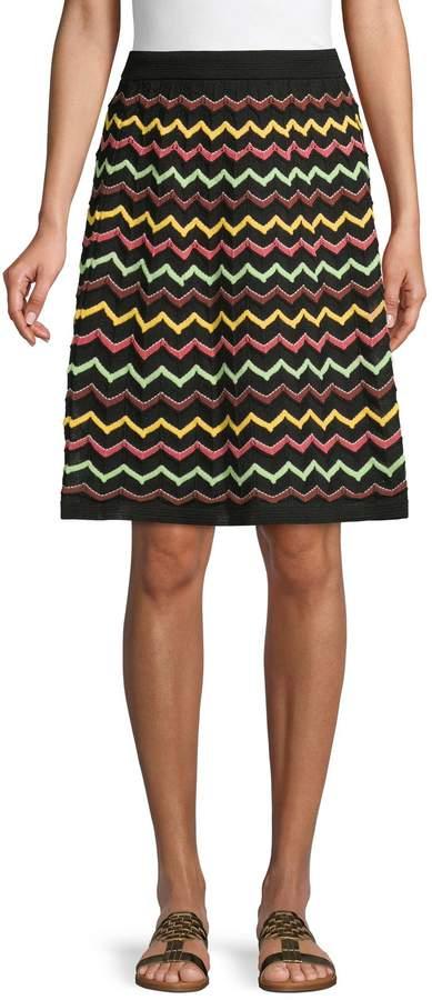 low cost 96ddd c4cef Gonna Chevron A-Line Skirt
