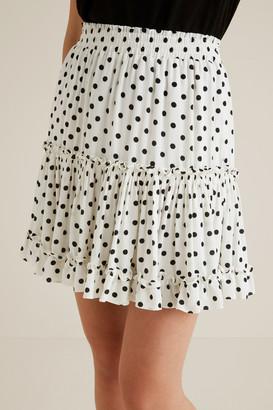 Seed Heritage Crinkle Spot Mini Skirt