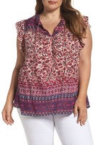 Lucky Brand Plus Size Women's Lucy Peasant Top