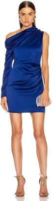 Cushnie Off the Shoulder Single Sleeve Mini Dress in Indigo | FWRD