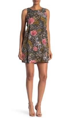 WEST KEI Tropical Floral Cutout Mini Dress