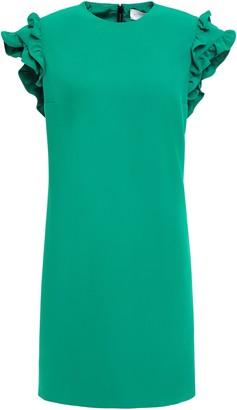 Victoria Victoria Beckham Ruffled Crepe Mini Dress